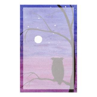 Papeterie Hibou et pleine lune