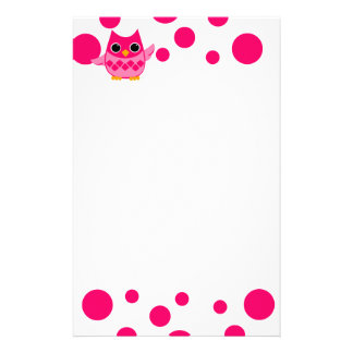 Papeterie Hibou rose lumineux