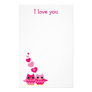 Papeterie Hiboux doux d'amour