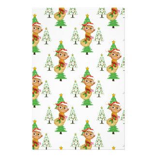 Papeterie Hiboux et arbres de Noël
