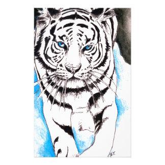 Papeterie Hiver blanc de tigre sibérien