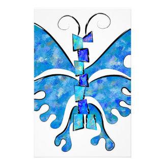 Papeterie Icelonius - papillon bleu de glace