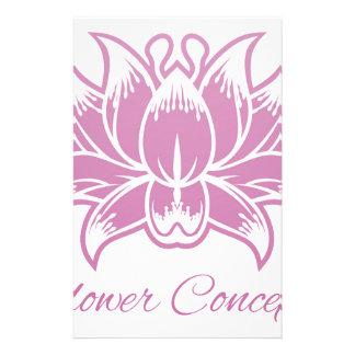 Papeterie Icône rose de concept de construction de fleur