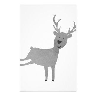 Papeterie Illustration grise de renne