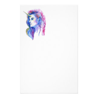 Papeterie Illustration magique violette lumineuse