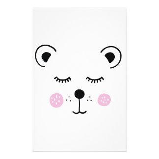 Papeterie Illustration mignonne d'ours