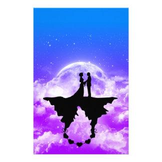 Papeterie Illustration romantique stationnaire