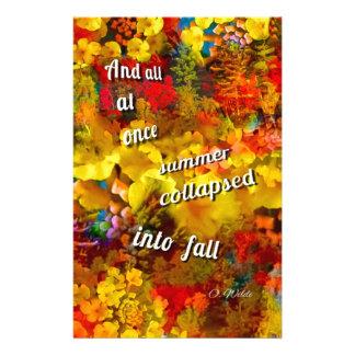 Papeterie Imaginez l'automne sans ces couleurs