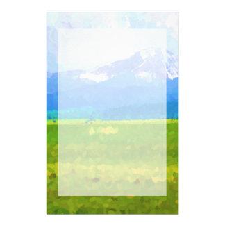 Papeterie Impressionniste de Colorado Rockies stationnaire