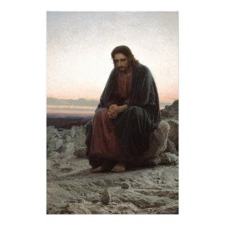 Papeterie Ivan Kramskoy- le Christ dans la région sauvage -