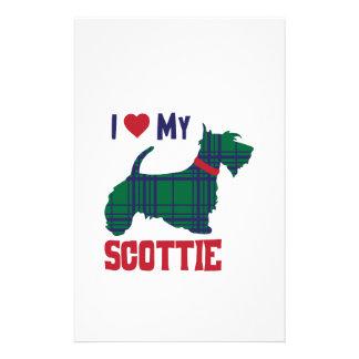 Papeterie J'aime mon Scottie
