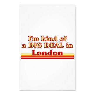 Papeterie Je suis un peu une affaire à Londres
