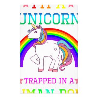 Papeterie Je suis une licorne, T-shirt mignon de cadeau de
