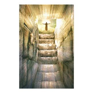 Papeterie Jésus à la résurrection vide de Pâques de tombe
