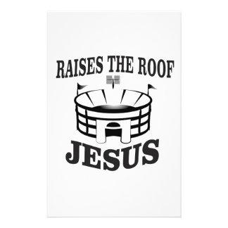 Papeterie Jésus soulève le toit ouais