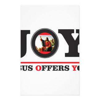 Papeterie Jésus vous offre l'étiquette de joie