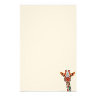 Papeterie jetante un coup d'oeil ambre de girafe