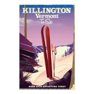 Papeterie Killington, copie de voyage de ski du Vermont