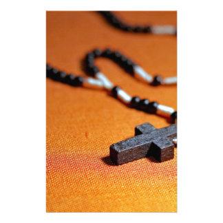 Papeterie la croix en bois de chapelet