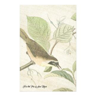 Papeterie La faune d'oiseau de fauvette d'Audubon fleurit la