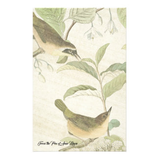 Papeterie La faune d'oiseaux de fauvette d'Audubon fleurit