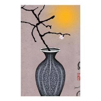 Papeterie la lune élégante des fernandes et la fleur de 2