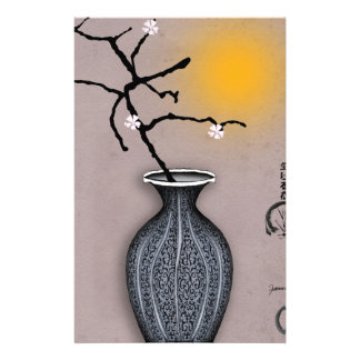 Papeterie la lune élégante des fernandes et la fleur de 5