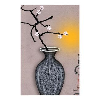 Papeterie la lune élégante des fernandes et la fleur de 8