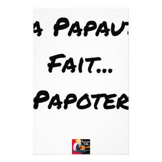 Papeterie LA PAPAUTÉ FAIT PAPOTER - Jeux de mots