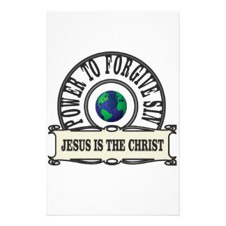 Papeterie La puissance de Jésus pardonnent le péché en monde