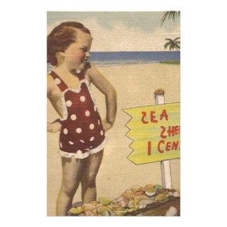 Papeterie La rétro mer vintage d'art écosse la Floride