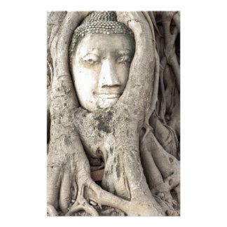Papeterie La tête de Bouddha dans l'arbre de Bodhi,