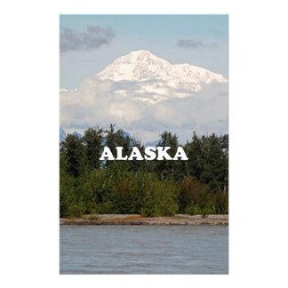 Papeterie L'Alaska : Denali, forêt, rivière, montagnes,