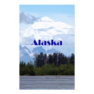 Papeterie L'Alaska : Denali, forêt, rivière, montagnes 1