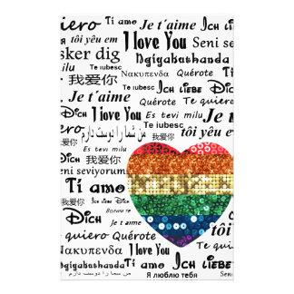 Papeterie Langues étrangères d'amour