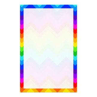 Papeterie L'arc-en-ciel colore le grand Chevron motif de