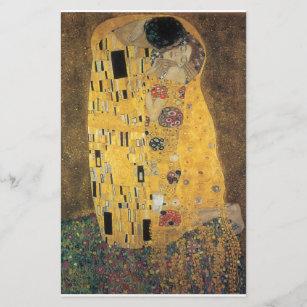 Papeterie Le baiser, reproduction, peinture de Gustav Klimt,