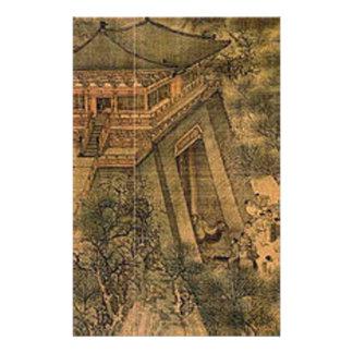 Papeterie Le long de l'art d'Asiatique de rivière