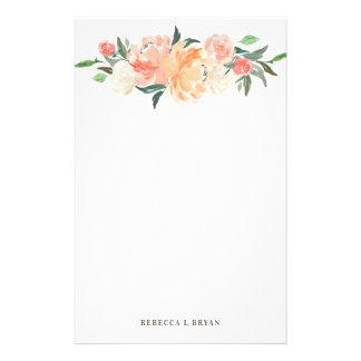 Papeterie Le ressort rougissent guirlande florale