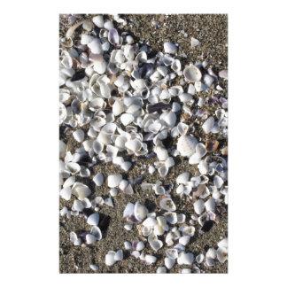 Papeterie Les coquillages l'été de sable échouent la vue