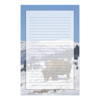 Papeterie Les Etats-Unis, WY, Yellowstone NP, bison de bison