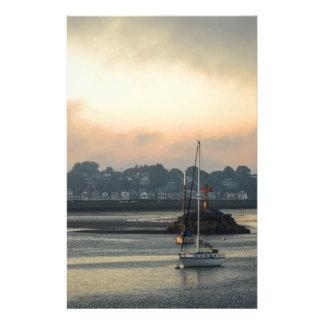Papeterie Lever de soleil et bateaux