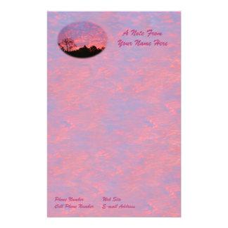 Papeterie Lever de soleil vibrant rose