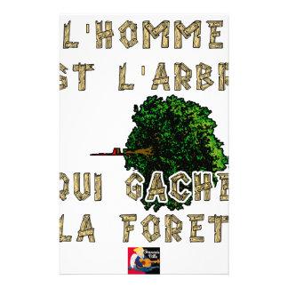 Papeterie L'Homme est l'Arbre qui Gâche la Forêt