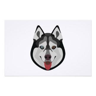 Papeterie L'illustration poursuit le chien de traîneau