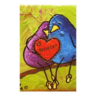 "Papeterie LimbBirds ""chocolat Valentine """