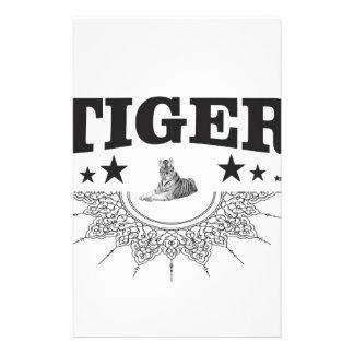 Papeterie logo de fantaisie de tigre