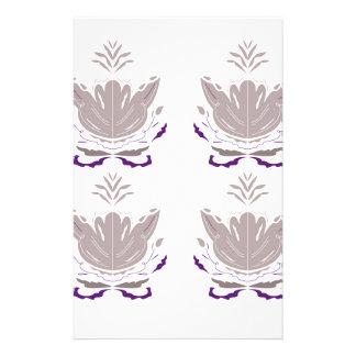 Papeterie Lotus gris sur le blanc