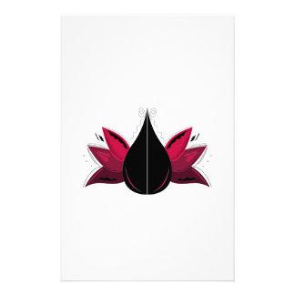 Papeterie Lotus sur le blanc