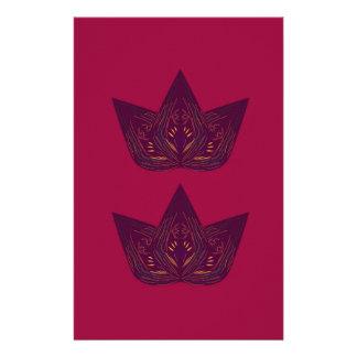 Papeterie Lotus sur le rouge